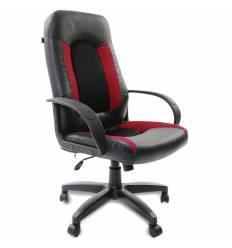 Кресло BRABIX Strike EX-525 для руководителя, экокожа, ткань, черный/бордовый