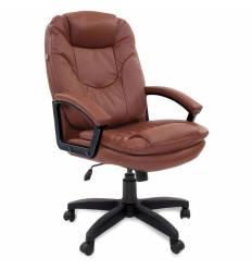 Кресло BRABIX Trend EX-568 для руководителя, экокожа, коричневое