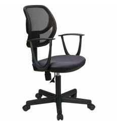 Кресло BRABIX Flip MG-305 для оператора, сетка/ткань, черное/серое