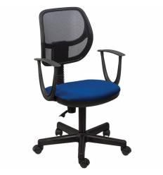 Кресло BRABIX Flip MG-305 для оператора, сетка/ткань, черное/синее