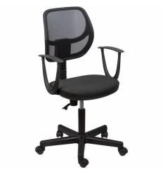 Кресло BRABIX Flip MG-305 для оператора, сетка/ткань, черное/темно-серое