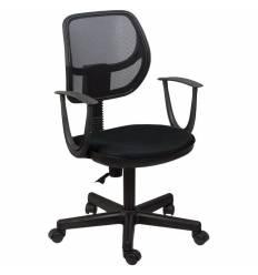 Кресло BRABIX Flip MG-305 для оператора, сетка/ткань, черное