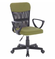 Кресло BRABIX Jet MG-315 для оператора, сетка/ткань, черное/зеленое