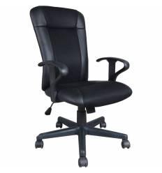 Кресло BRABIX Optima MG-370 для оператора, экокожа/ткань, черное