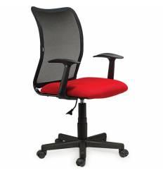 Кресло BRABIX Spring MG-307 для оператора, сетка/ткань, черное/красное