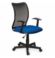 Кресло BRABIX Spring MG-307 для оператора, сетка/ткань, черное/синее