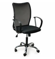 Кресло BRABIX Spring MG-308 для оператора, хром, сетка/ткань, черное