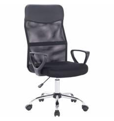 Кресло BRABIX Tender MG-330 для оператора, хром, сетка/ткань/экокожа, черное