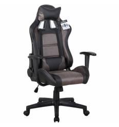 Кресло BRABIX GT Racer GM-100 игровое, две подушки, ткань/экокожа, черное/коричневое