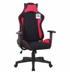 Кресло BRABIX GT Racer GM-101 игровое, подушка, ткань, черное/красное