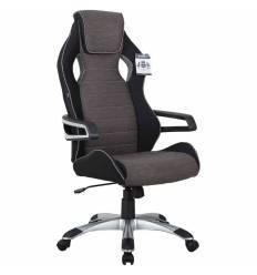 Кресло BRABIX Techno GM-002 игровое, ткань, черное/серое, вставки белые