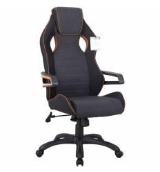 Кресло BRABIX Techno Pro GM-003 игровое, ткань, черное/серое, вставки оранжевые