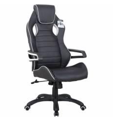 Кресло BRABIX Techno Pro GM-003 игровое, ткань, черное/серое, вставки серые