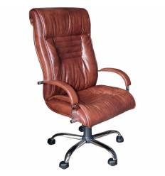 Кресло Стиль Сенатор хром для руководителя