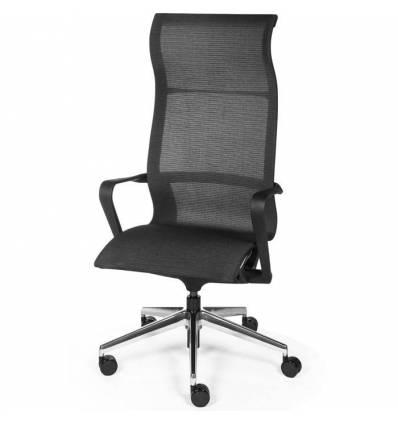 Кресло NORDEN Cosmo Black для руководителя, хром, сетка, цвет черный
