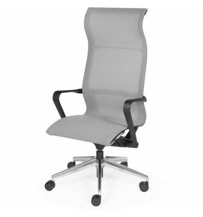 Кресло NORDEN Cosmo Grey для руководителя, хром, сетка, цвет серый
