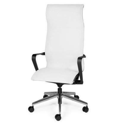Кресло NORDEN Cosmo White для руководителя, хром, сетка, цвет белый