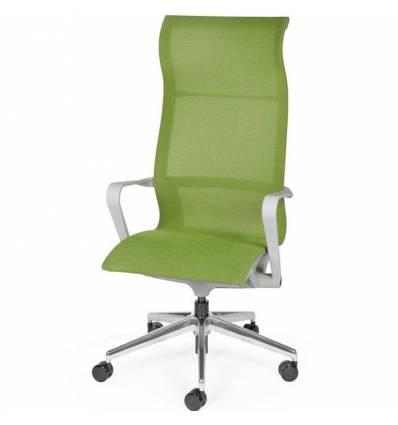 Кресло NORDEN Cosmo Green для руководителя, хром, сетка, цвет зеленый