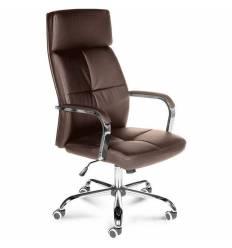 Кресло NORDEN Alex Brown для руководителя, хром, экокожа, цвет коричневый