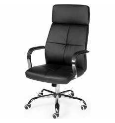 Кресло NORDEN Alex Black для руководителя, хром, экокожа, цвет черный