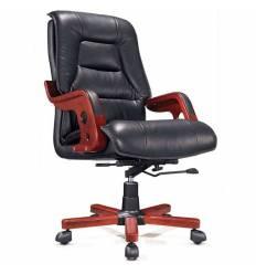 Кресло NORDEN Aristocrat для руководителя, дерево, экокожа, цвет черный