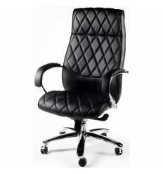 Кресло NORDEN Bond Black для руководителя, хром, экокожа, цвет черный