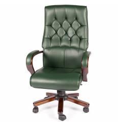 Кресло NORDEN Botticelli Green для руководителя, дерево, экокожа, цвет зеленый