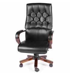 Кресло NORDEN Botticelli Black для руководителя, дерево, экокожа, цвет черный