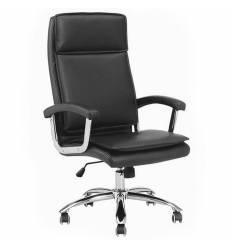 Кресло NORDEN Washington Black для руководителя, хром, экокожа, цвет черный