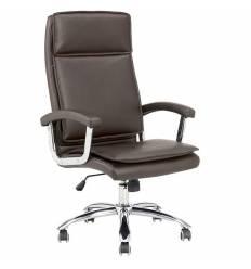 Кресло NORDEN Washington Brown для руководителя, хром, экокожа, цвет коричневый