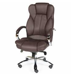 Кресло NORDEN Versa Dark Brown для руководителя, хром, экокожа, цвет темно-коричневый