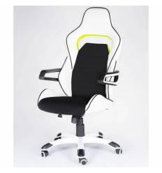 Кресло NORDEN Joker Z геймерское, ткань, экокожа, цвет черный, белый