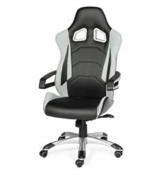 Кресло NORDEN Joker X Grey геймерское, экокожа, ткань, цвет черный, серый