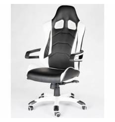 Кресло NORDEN Joker X White геймерское, экокожа, цвет черный, белый