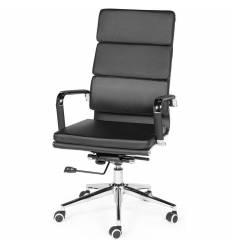 Кресло NORDEN Zoom Black для руководителя, хром, экокожа, цвет черный