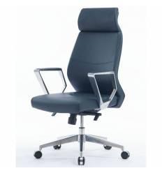 Кресло NORDEN Indigo для руководителя, хром, экокожа, цвет темно-синий