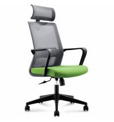 Кресло NORDEN Inter Green для руководителя, сетка, ткань, цвет серый, зеленый