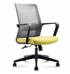 Кресло NORDEN Inter LB Green для руководителя, сетка, ткань, цвет серый, зеленый