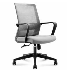 Кресло NORDEN Inter LB Grey для руководителя, сетка, ткань, цвет серый