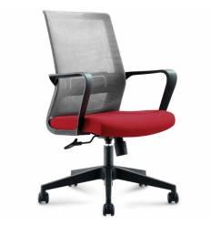 Кресло NORDEN Inter LB Cherry для руководителя, сетка, ткань, цвет серый, вишневый