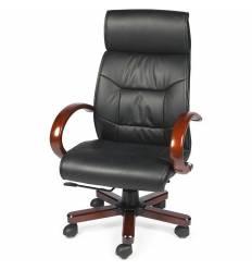 Кресло NORDEN Congress для руководителя, дерево, экокожа, цвет черный