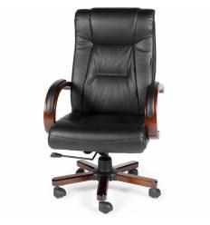 Кресло NORDEN Consul Leather для руководителя, дерево, кожа, цвет черный