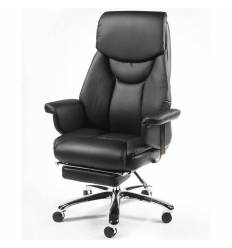 Кресло NORDEN Parlament Black для руководителя, хром, экокожа, цвет черный