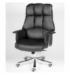 Кресло NORDEN President Black Leather для руководителя, хром, кожа, цвет черный