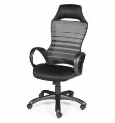 Кресло NORDEN Renome Black геймерское, черный пластик, сетка, ткань, цвет черный