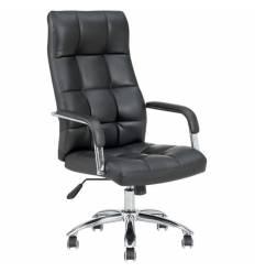 Кресло NORDEN Rimini для руководителя, хром, экокожа, цвет черный