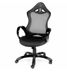 Кресло NORDEN Tesla Full Black геймерское, черный пластик, сетка, ткань, экокожа, цвет черный