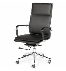 Кресло NORDEN Harman Black для руководителя, хром, экокожа, цвет черный