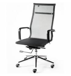 Кресло NORDEN Helmut Black для руководителя, хром, сетка, цвет черный