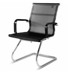 Кресло NORDEN Helmut CF Black для посетителя, хром, сетка, цвет черный